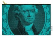 Thomas Jefferson In Turquois Carry-all Pouch