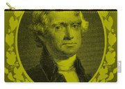 Thomas Jefferson In Yellow Carry-all Pouch