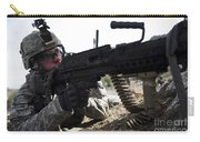 U.s. Army Soldier Provides Security Carry-all Pouch