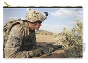 U.s Army Specialist Provides Security Carry-all Pouch