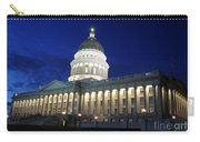 Utah Capitol Building At Twilight Carry-all Pouch