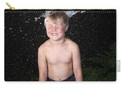 Water Balloon Popped Above Boys Head Carry-all Pouch