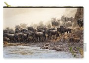 Wildebeest Before The Crossing Carry-all Pouch