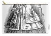 Womens Fashion. C1850s Carry-all Pouch