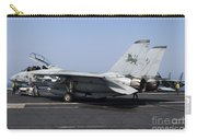 An F-14d Tomcat On The Flight Deck Carry-all Pouch