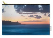A Beach During Sunset With Glowing Sky Carry-all Pouch