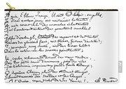 Arthur Rimbaud (1854-1891) Carry-all Pouch