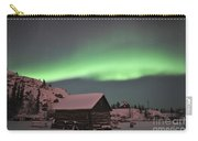 Aurora Borealis Over A Cabin, Northwest Carry-all Pouch