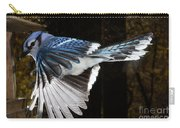 Blue Jay In Flight Carry-all Pouch