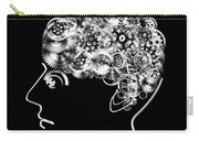 Brain Design By Cogs And Gears Carry-all Pouch by Setsiri Silapasuwanchai