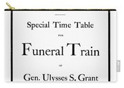 Burial Of Ulysses S. Grant Carry-all Pouch