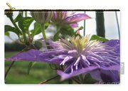 Double Clematis Named Crystal Fountain Carry-all Pouch