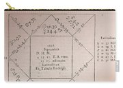 Horoscope Chart For Louis Xiv, 1661 Carry-all Pouch
