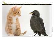 Jackdaw And Kitten Carry-all Pouch