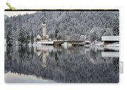 Lake Bohinj In Winter Carry-all Pouch