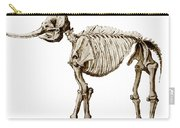 Mastodon Skeleton Carry-all Pouch by Science Source