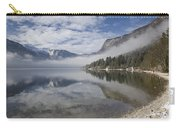 mist burning off Lake Bohinj Carry-all Pouch