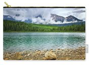 Mountain Lake In Jasper National Park Carry-all Pouch by Elena Elisseeva