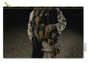 Portrait Of A U.s. Marine Carry-all Pouch by Terry Moore
