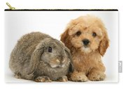 Puppy And Rabbit Carry-all Pouch