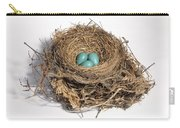 Robins Nest With Eggs Carry-all Pouch