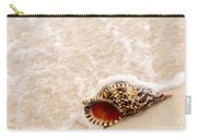 Seashell And Ocean Wave Carry-all Pouch by Elena Elisseeva