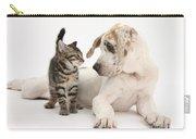 Tabby Kitten & Great Dane Pup Carry-all Pouch