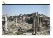 Temple Of Saturn In The Forum Romanum. Rome Carry-all Pouch