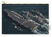 Underway Replenishment At Sea With U.s Carry-all Pouch