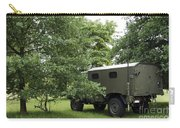 Unimog Truck Of The Belgian Army Carry-all Pouch by Luc De Jaeger