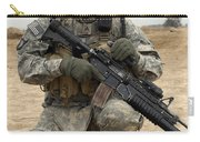 U.s. Army Sergeant Provides Security Carry-all Pouch