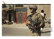 U.s. Army Specialist Provides Security Carry-all Pouch