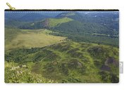 View From Puy De Dome Onto The Volcanic Landscape Of The Chaine Des Puys. Auvergne. France Carry-all Pouch