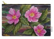 3 Wild Roses Carry-all Pouch
