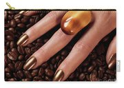 Woman Hands In Coffee Beans Carry-all Pouch