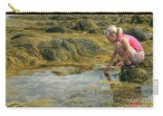 Young Girl Exploring A Maine Tidepool Carry-all Pouch