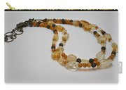 3514 Citrine Double Strand Necklace Carry-all Pouch
