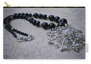 3596 Spiderweb Rhinestone Pendant Necklace Carry-all Pouch