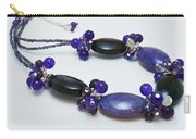 3598 Purple Cracked Agate Necklace Carry-all Pouch
