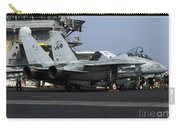 An F-14d Tomcat On The Flight Deck Carry-all Pouch