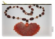 3610 Iridescent Copper Plated Cottonwood Leaf Pendant Necklace Carry-all Pouch