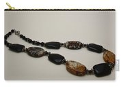 3617 Crackle Agate And Onyx Necklace Carry-all Pouch