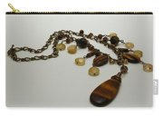 3618 Tigereye And Citrine Necklace Carry-all Pouch