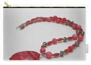 3619 Rhodonite And Bali Sterling Silver Necklace Carry-all Pouch