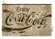 Coca Cola Sign Grungy Retro Style Carry-all Pouch