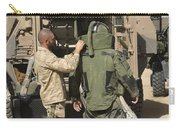 A U.s. Marine Gets Suited Carry-all Pouch
