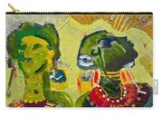 African Bead Painting  Carry-all Pouch