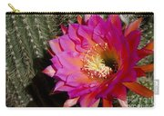 Dark Pink Cactus Flower Carry-all Pouch