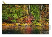 Fall Forest And River Landscape Carry-all Pouch