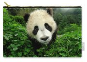 Giant Panda Ailuropoda Melanoleuca Carry-all Pouch by Katherine Feng